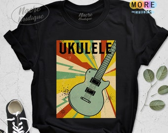 Mens T-Shirt Finest UKULELE Players Born in MAY Music Birthday Christmas Gift