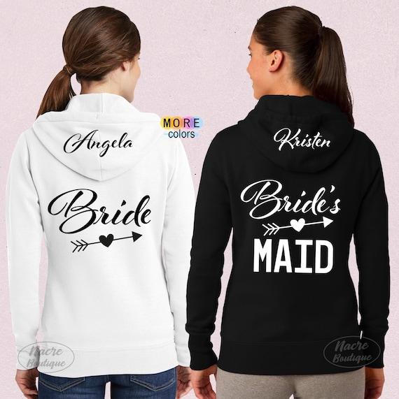 Tropical Bachelorette party shirts hoodies monogram bridesmaid sweatshirts Pineapple hoodie monogrammed hooded bridesmaid sweatshirt