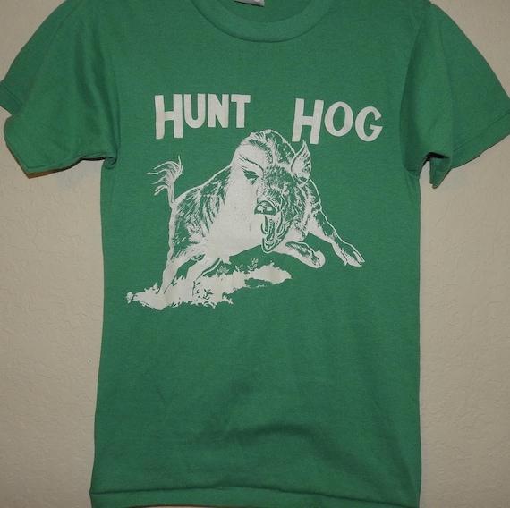 Vintage Single Stitch Florida Hunt Hog Shirt