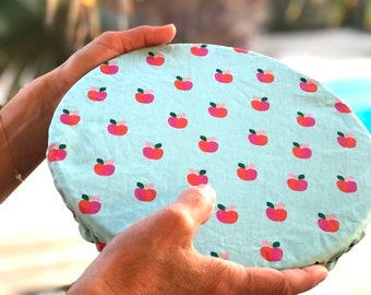 Flat cover - Charlotte for cloth dish - Zero waste - different sizes for casserole, salad bowl, mug, pie dish, bowl