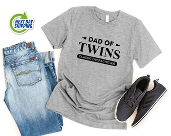 Dad of Twins Shirt | Funny Dad Shirt | Pregnancy Reveal | Father's Day Gift | Twin Dad Shirt | Best Dad Gift | Father of Twins