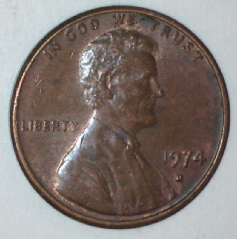 Small Date 1974-D Lincoln Memorial Cent