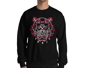 23428622d2 Kenzo Jumper Kenzo Sweatshirt Inspired Neon Fashion Print Jumper Designer  Tiger Inspired Crewneck Unisex Mens Womens Top Long Sleeve Modern