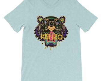 ba3a1e2d3f09 Kenzo Tshirt Kenzo Tee Kenzo Top Inspired Fashion Designer Tiger inspired  print top Short-Sleeve Unisex T-Shirt