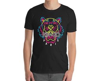 e8a547660096 Kenzo Neon Tee Kenzo Top Kenzo Tshirt Neon Unisex Inspired Fashion Designer  Tiger inspired print top Short-Sleeve T-Shirt