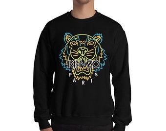 b377e915377 KENZO mode inspiré Sweatshirt imprimé cavalier tigre créateur inspiré  Crewneck unisexe Mens Womens Top manches longues moderne