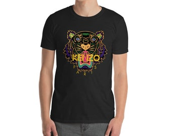 14acbe4c Kenzo Tshirt Kenzo Tee Kenzo Top Unisex Inspired Fashion Designer Tiger  inspired print top Short-Sleeve Unisex T-Shirt