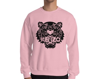 7f7ed6e0 Kenzo Inspired Fashion Sweatshirt Print Jumper Designer Tiger Inspired  Crewneck Unisex Mens Womens Top Long Sleeve Modern