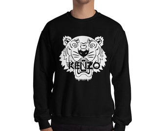 ce557311 Kenzo Inspired Fashion Sweatshirt Print Jumper Designer Tiger Inspired  Crewneck Unisex Mens Womens Top Long Sleeve Modern