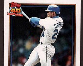 f68b466288 Ken Griffey Jr. baseball card, Ken Griffey Sr. Card ,Baseball Card, Vintage  Baseball, Father and Son Baseball, Mariners, Baseball Party Gift