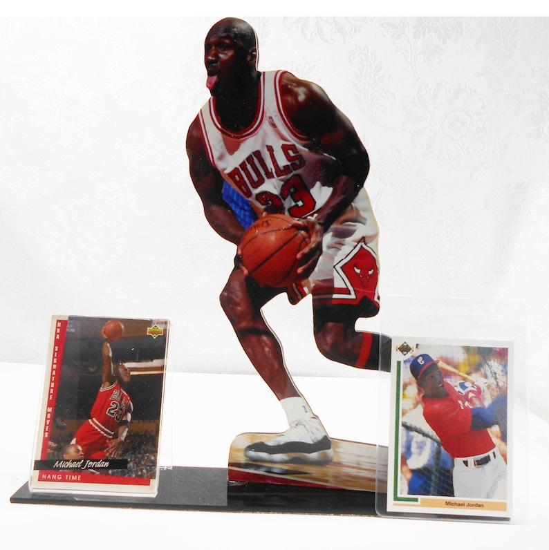 Michael Jordan Cards 9 Inch Figure Card Holder Hang Time Card 237michael Jordan White Soxs Rookie Card Sp1 Vintage Baseball Basketball