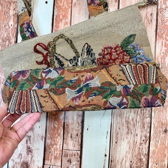 Cat Bag Purse Shoulder Vintage Bag Beaded Grandma… - image 8