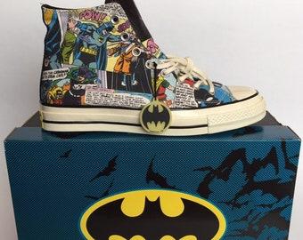 266c3425a505 Converse Chuck Taylor All Star 70s Hi Top DC Comics Batman Collection Uk  Size 9.5