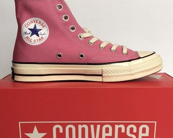 189bcd02f82091 Converse Chuck Taylor All Star 70s Hi Top Adult Sneakers Uk Size 6.5  Pink Black WhiteEgret SKU  151225C