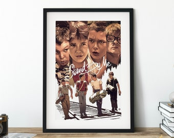 stand by me ART PRINT  POSTER FILM MOVIE WALL DECOR A3 SIZE painting