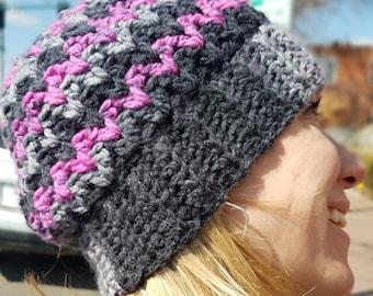 3e5f0093c60 Zigzag Chunky Crochet Hat