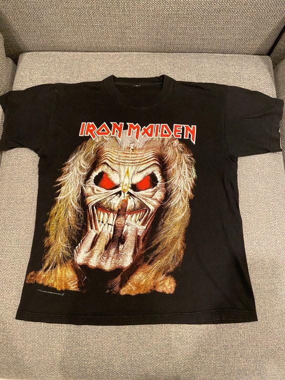 Vintage Iron Maiden 1997 Eddie Middle Finger tee s