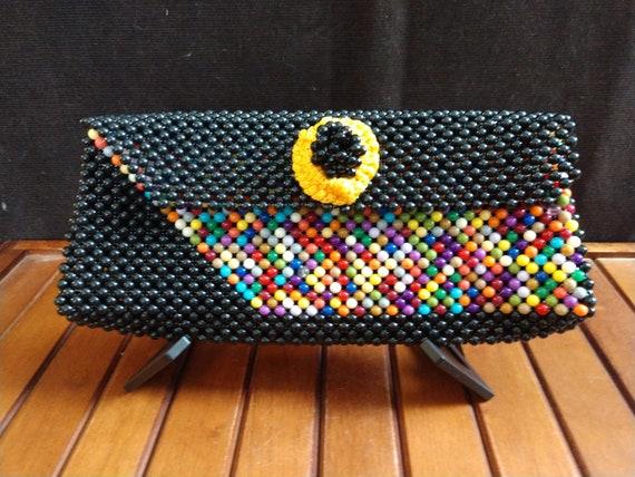 Vintage Plastic Beaded Clutch purse
