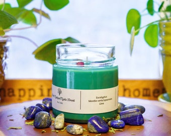 MYSTIC FOREST ~ Soy candle, 7oz candle, eucalyptus and spearmint candle, scented candle, intentions candles, unique candles, soy candles