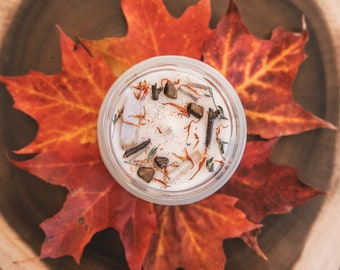 Autumn nights soy candle, 7oz candle, fall candle, autumn candle, bougie de soya, chandelle de soya, chandelle fait au Québec, soy candle