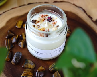 GROUND YOURSELF Soy candle, 7oz candle, grounding candle, candles, soy candle, glass jar candle