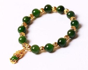 Natural Type A Jadeite Jade Pixiu Ring Thumb RingREADY TO SHIPNo.S184
