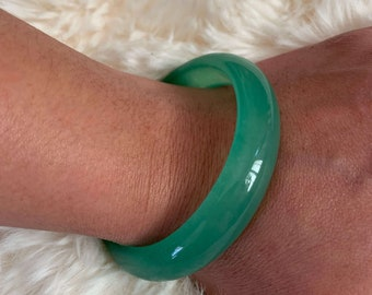 Jadeite Bangle Bracelet 57MM Certificated Grade A Spinach Green Floats Flower Jade Bracelet Fei Cui Traditional Bangle Jewelry Gift for Her