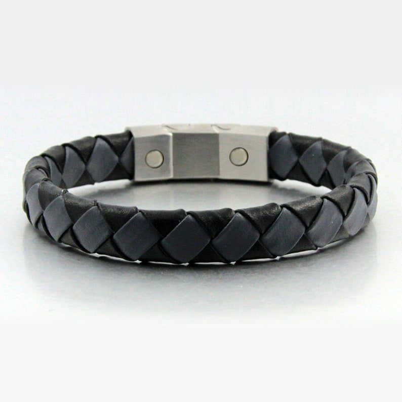 Gorgeous Real Leather magnet bracelet magnetic clasp men elegant style Gift for him Christmas