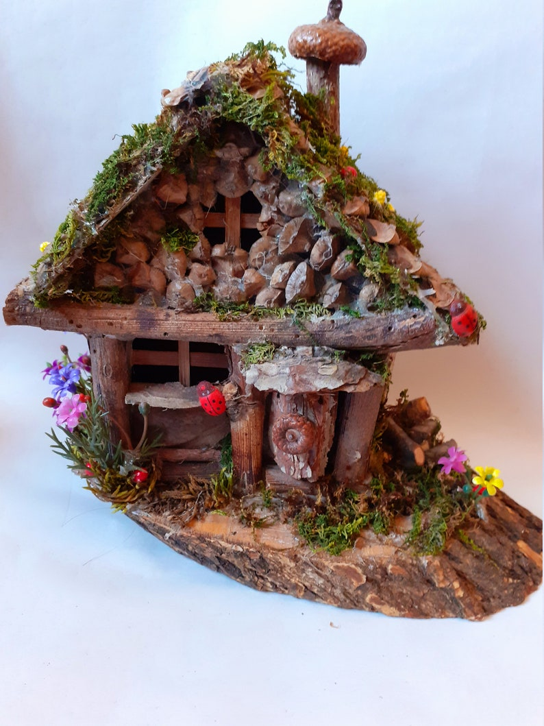 Miniature Dollhouse FAIRY GARDEN ~ Acorn Fairy Cottage House ~ NEW