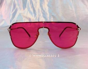 8c8b7bf2663 Gucci Inspired Sunglasses Men Women Red Panther 80s 50s 70s Unique Festival  Designer Oversized Sunglasses