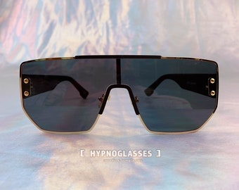 041fa0cd468 Square Gucci Inspired Unique Sunglasses Men Women Festival Gold Designer Oversized  Sunglasses