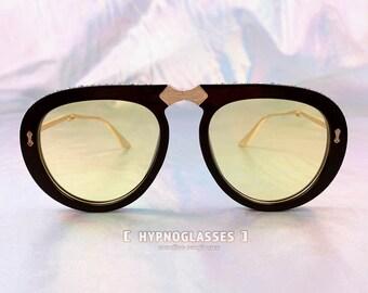 82d08a31e8168 Gucci Inspired Foldable Sunglasses Men Women Pink Yellow Retro 80s 50s 70s  Unique Festival Designer Oversized Glasses