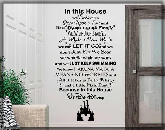 Hacemos Disney Estilo citar en esta Cámara normas Vinilo el arte de pared calcomanía mural del Reino Unido