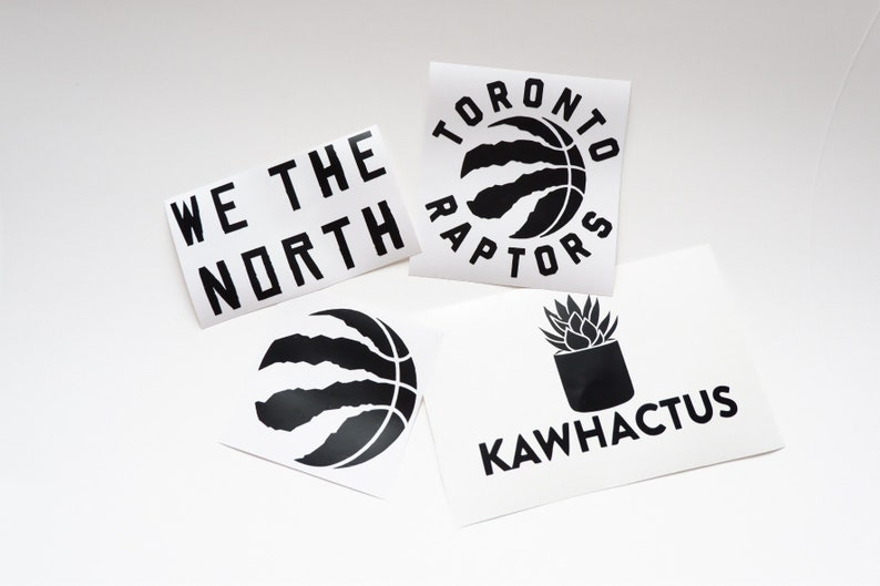 Toronto Raptors Stickers Car Decals Laptop Stickers We The North Kawhactus Stickers Nba Champs Stickers 2019 Nba Champs