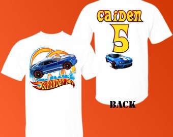 fd3c2d940 Any Name and Age for Birthday Boy. Hot Wheels Digital File. Family Shirts.  Birthday Party. Iron on Transfer. Camaro iron on transfer, Camaro