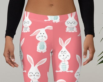 c24f793aa4ff1 Bunny Legging, Easter Leggings, Mid rise Leggings