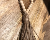 Wooden Beads Tassel Loop / Farmhouse / Door Hanger