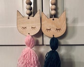 Door Hanger with Tassel . Kids room