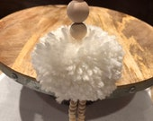 Pom-Poms Balerina with wooden beads