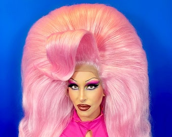 Custom Double Stack Drag Queen Lace Front Wig