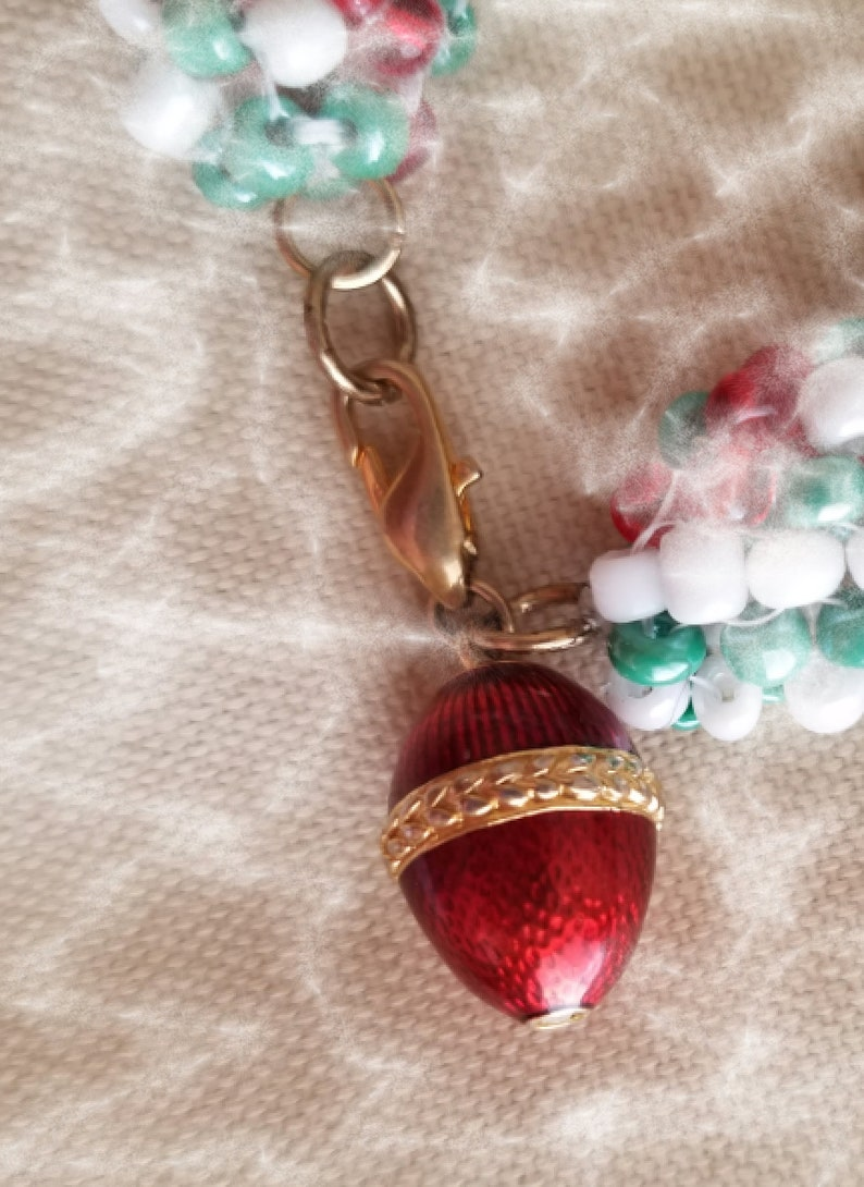 Bracelet with Christmas Colors