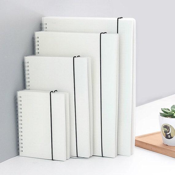 A5/A6 Spiral Notebook Plastic Matte Cover Transparent / MUJI Style, fai-da-te, Diario, Diario, Punto, Foderato, Vuoto, Griglia / 80 Fogli