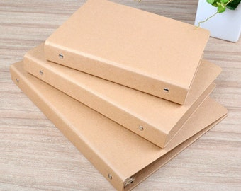A5/A6/B5/A4 Craft Paperboard Binder, MUJI Style Kraft Binder, Empty Binder, No Ring DIY Kraft Binder