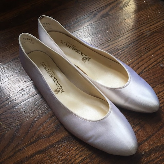 official site new high quality reputable site 1950s 50s Satin Shoes - size 10