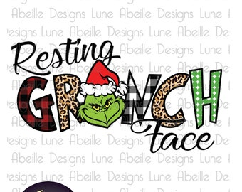 Resting Grinch Face Etsy