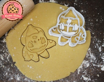 Pokemon | bulbasaur | cookie cutter | biscuit cutter | cookie stamp | cut-out | Cookie cutter set