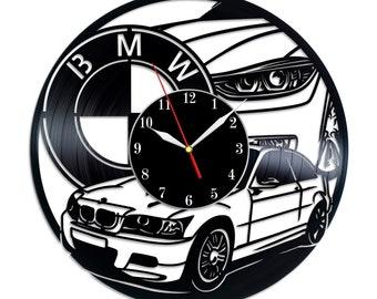 Bmw Art Decor Vinyl Record Clock Bmw Car Gift Vinyl Wall Clock Gift For Him Christmas Gift Black Wall Clock Bmw Gifts Car Owner Fun Gift SVG