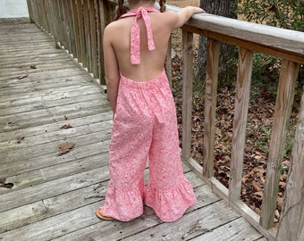 Vintage 1970s Light Brown Bell Bottom Jumpsuit with Wing Sleeves Size Small  Medium \u2014 Boho  Hippie  Festival  Groovy