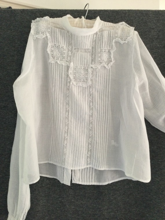 Exquisite french antique child's blouse