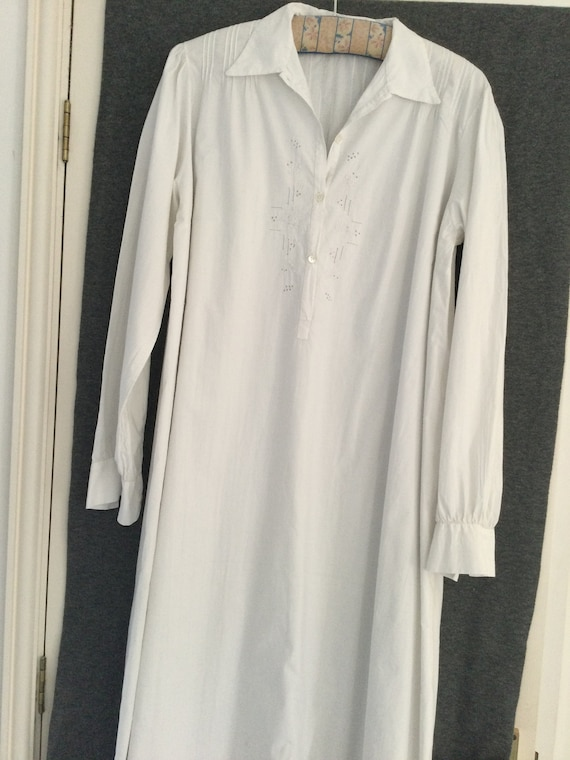 Beautiful antique French cotton nightshirt